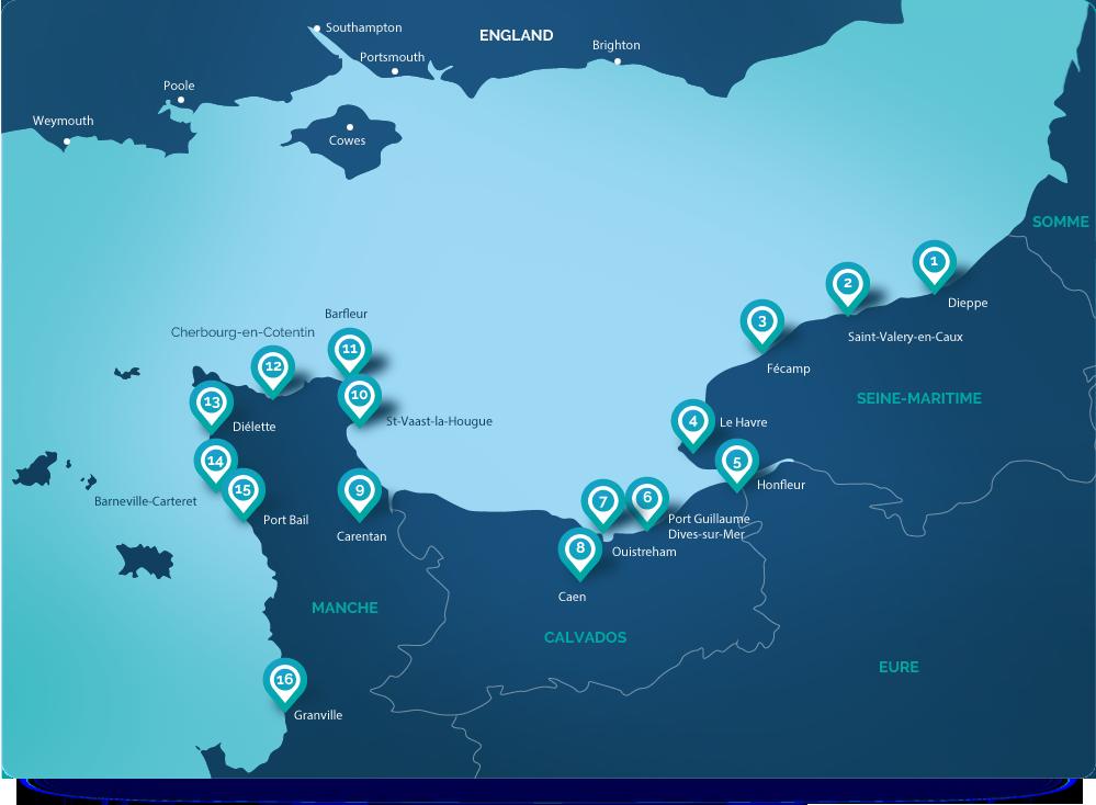 Marinas map